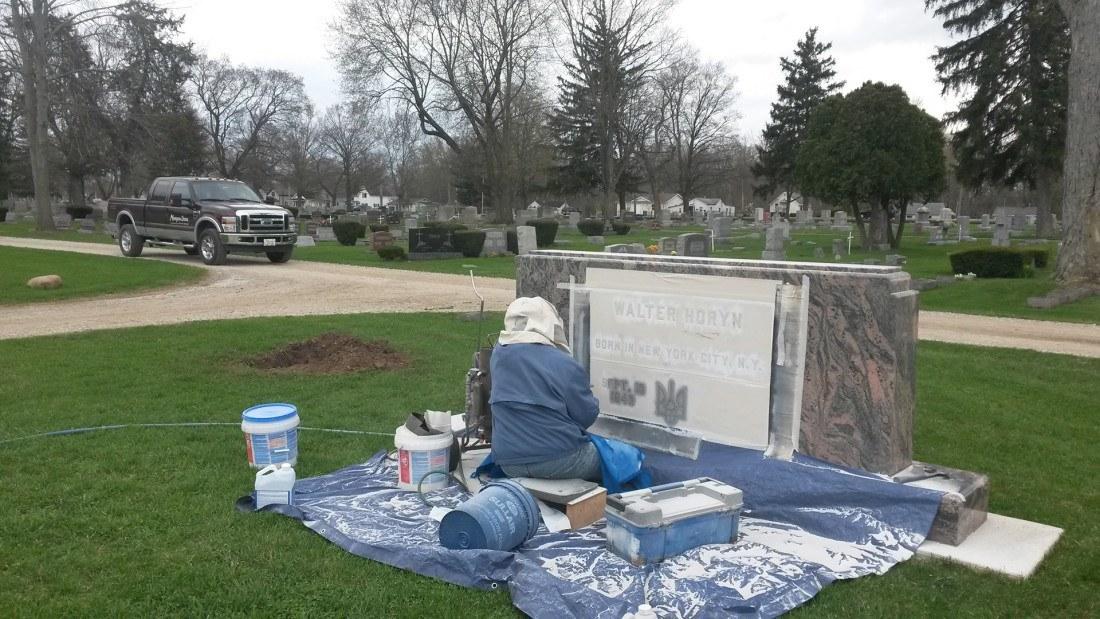 headstone in goshen indiana