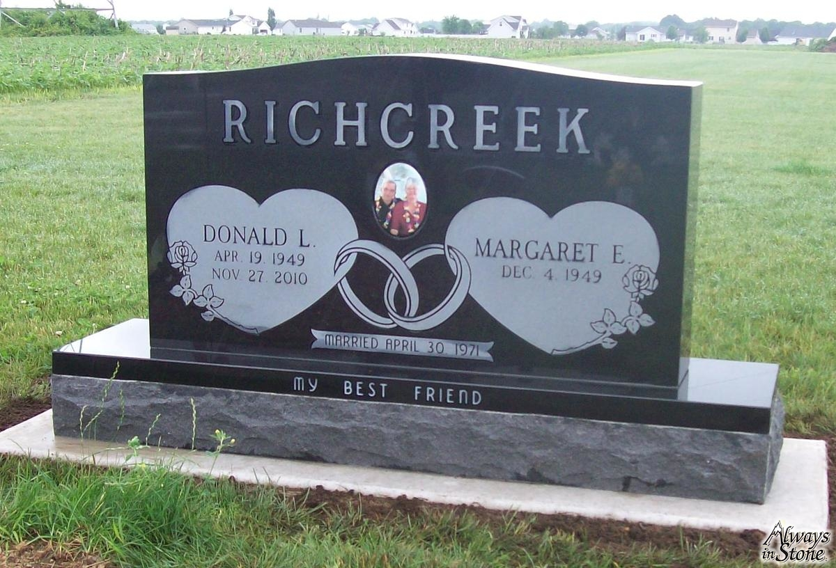 double headstone design